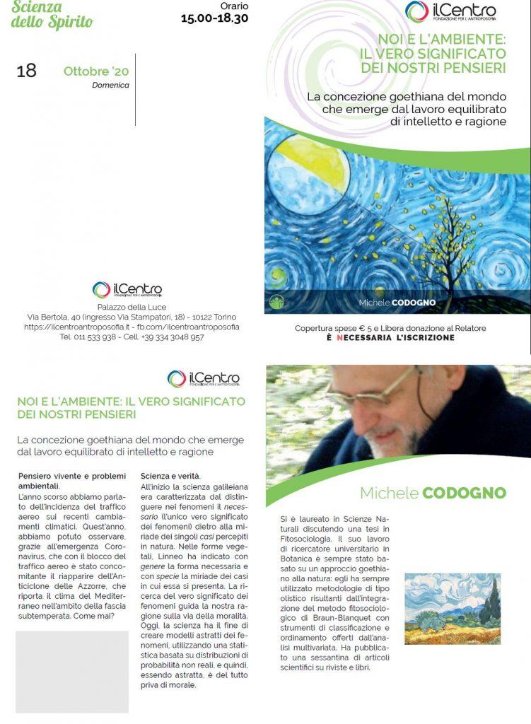Michele Codogno ambiente locandina 18-10-2020