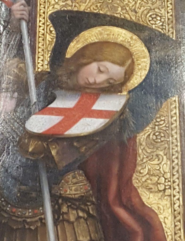 San Michele Defendente Ferrari particolare