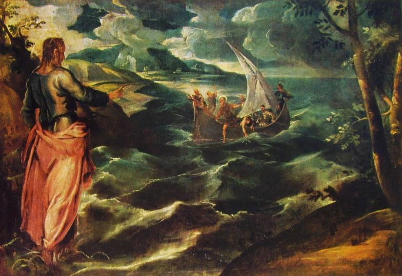 Cristo sul mare di Galilea - Tintoretto