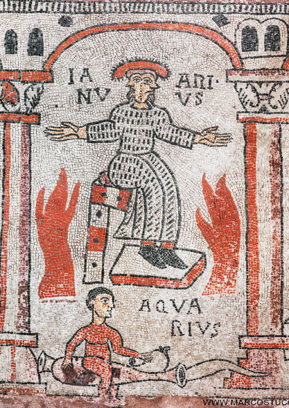 Mosaico dei Mesi San Colombano - Bobbio