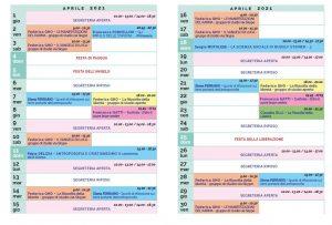 Calendario Il Centro Antroposofia aprile 2021