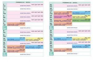 Calendario Il Centro Antroposofia febbraio 2021