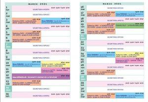 Calendario Il Centro Antroposofia marzo 2021