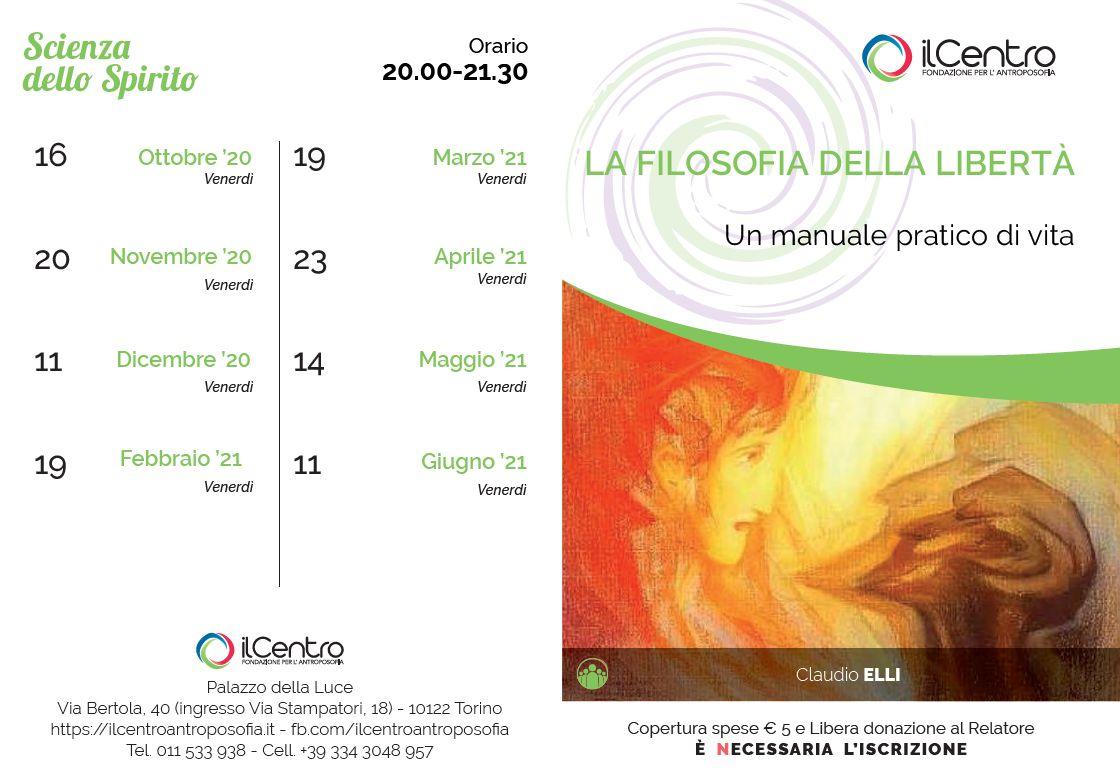 Claudio Elli Filosofia Della Libertà 2020-2021 calendario