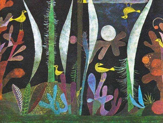 Paul Klee - Paesaggio con uccelli gialli
