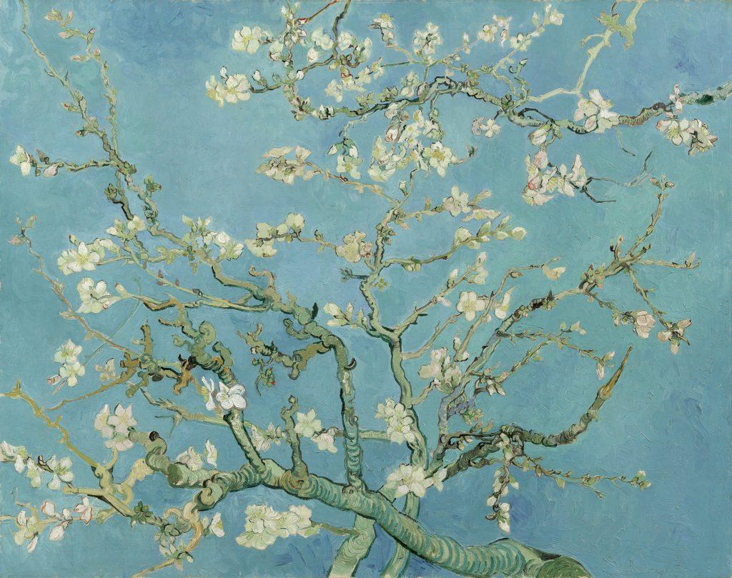 Ramo di mandorlo in fiore - dipinto a olio su tela - Vincent van Gogh (Saint Rémy, 1890)