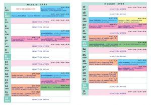 Calendario Il Centro Antroposofia maggio 2021