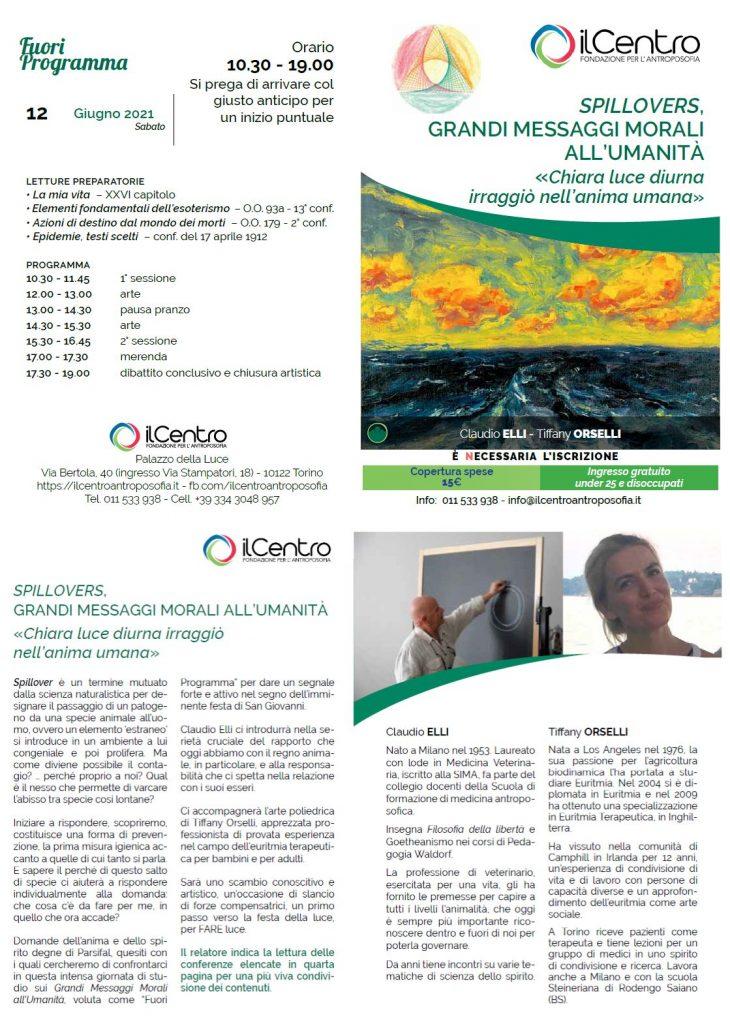 Claudio Elli e Tiffany Orselli - Spillovers 12-6-2021 locandina