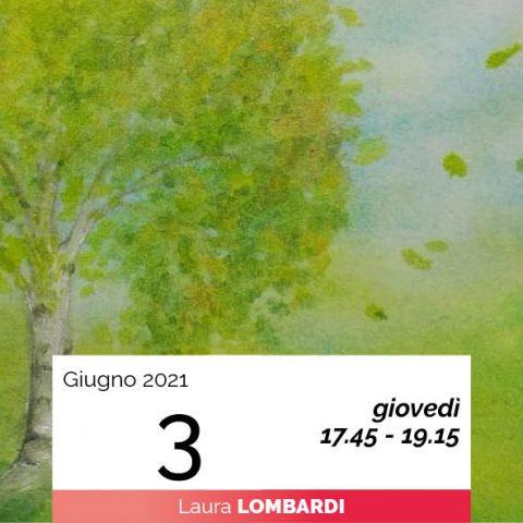 Laura Lombardi pittura sette alberi e sette pianeti 3-6-2021