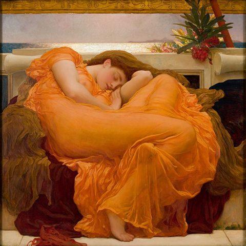 Flaming June, di Lord Leighton Frederic (1830-1896) - olio su tela - Museo de Arte de Ponce, Ponce, Puerto Rico