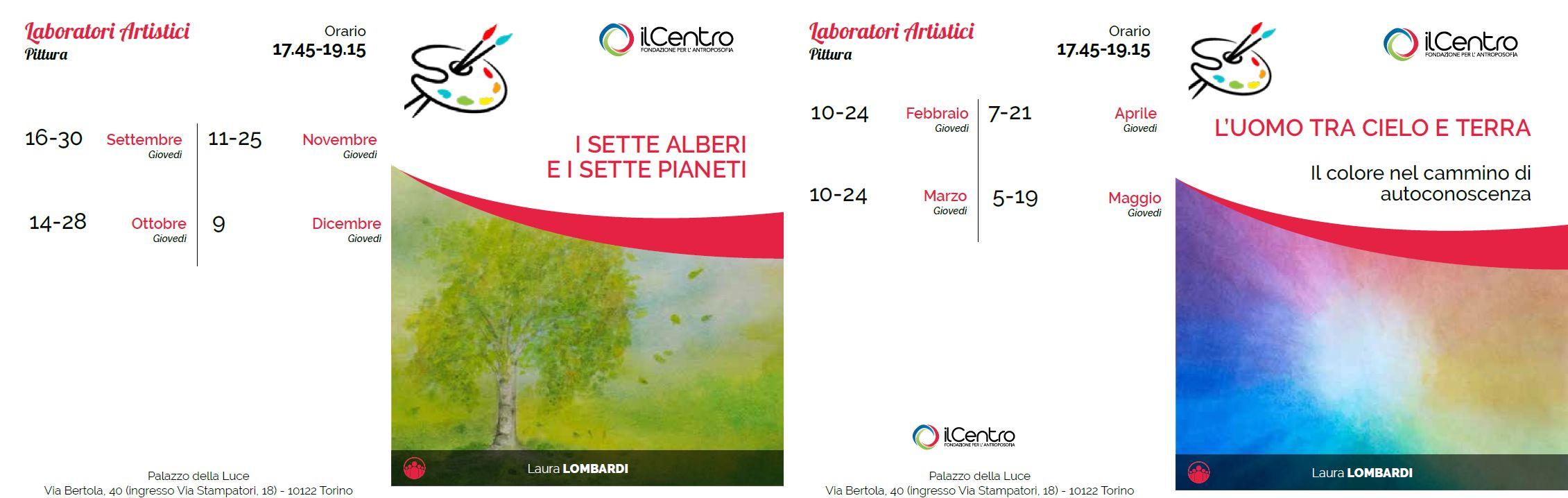 Calendario Laura Lombardi pittura 2021-2022