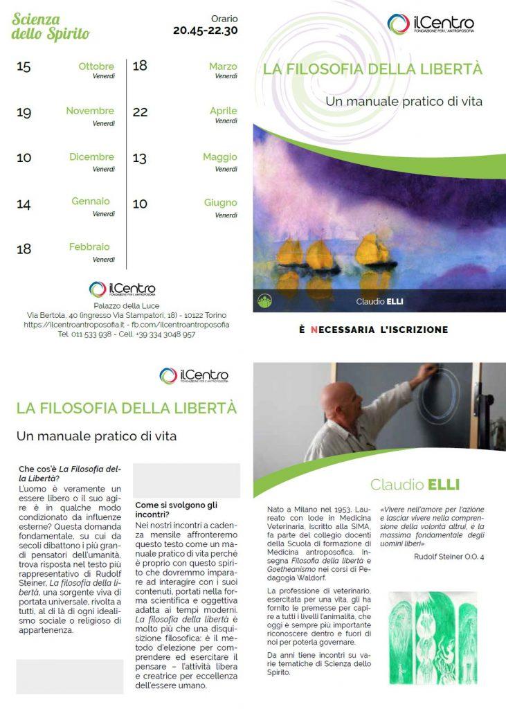 LA FILOSOFIA DELLA LIBERTÀ Un manuale pratico di vita - con Claudio Elli - locandina