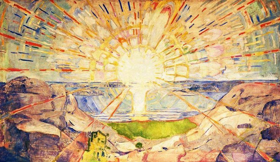 Il Sole- Edvard Munch (1911) - Olio su tela - Università di Oslo