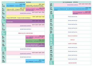 Calendario Il Centro Antroposofia dicembre 2021