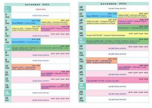 Calendario Il Centro Antroposofia novembre 2021